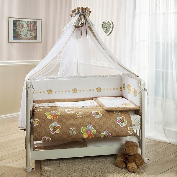 Комплект постельного белья Тиффани, коричневыйДетское постельное белье<br>Комплект постельного белья Тиффани, коричневый<br>