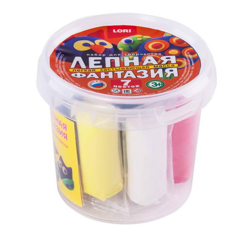 Набор для лепки в ведре - Лепная фантазия, 7 цветовНаборы для лепки<br>Набор для лепки в ведре - Лепная фантазия, 7 цветов<br>