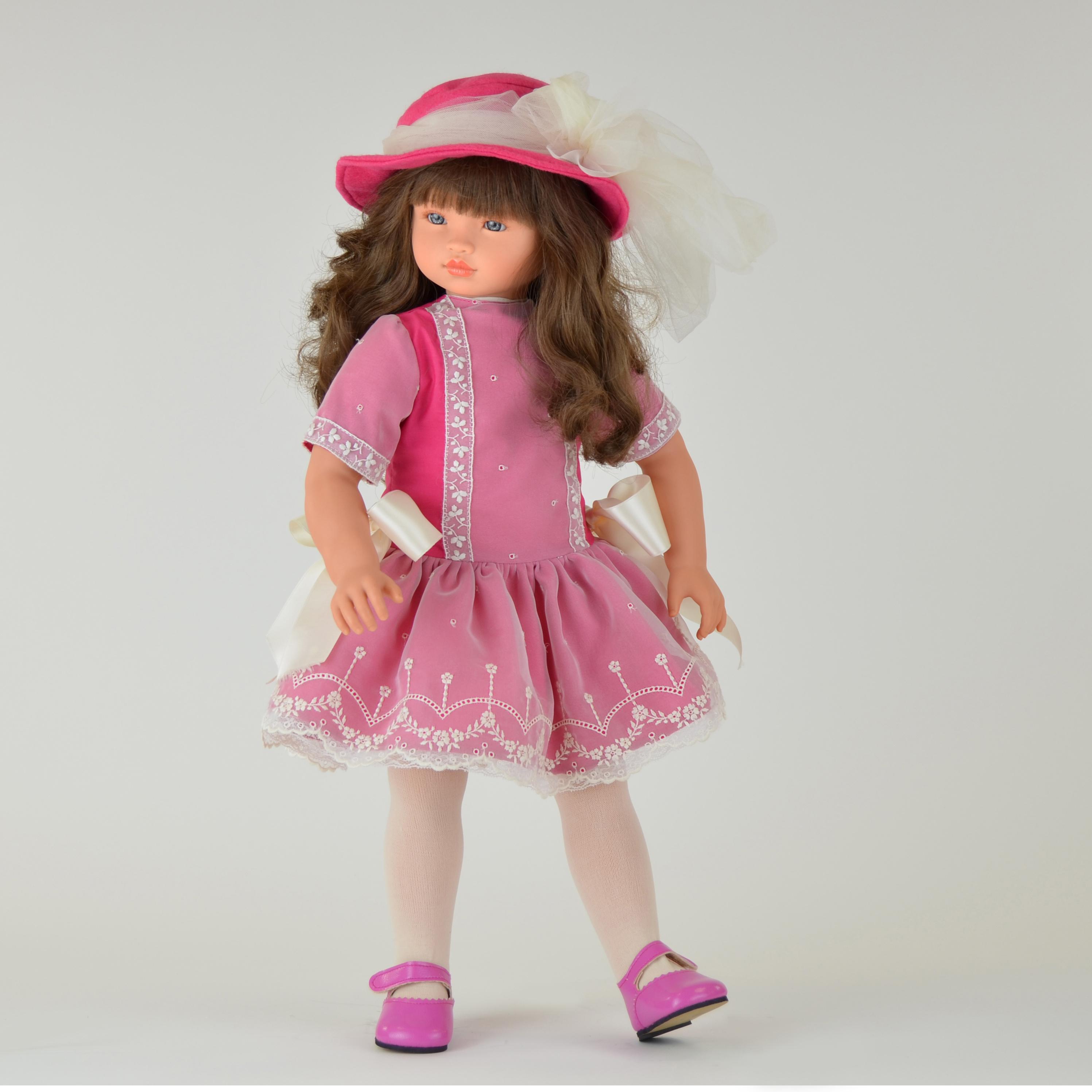 Кукла Эли в розовом платье, 60 см.Куклы ASI (Испания)<br>Кукла Эли в розовом платье, 60 см.<br>
