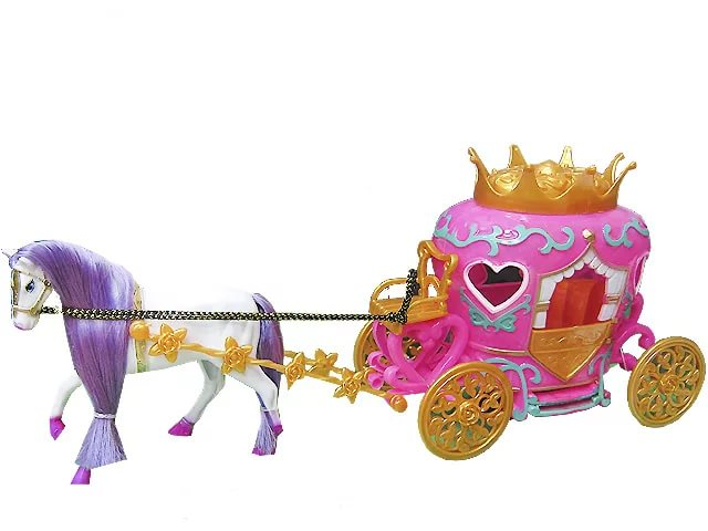 Карета с лошадью и куклойТранспорт для кукол<br>Карета с лошадью и куклой<br>