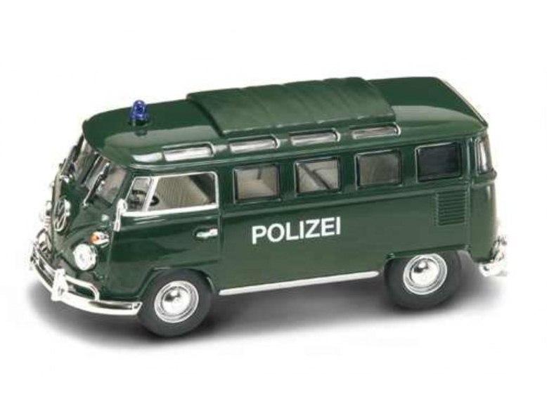 Фольксваген - полицейский микроавтобус 1962 года, масштаб 1/43, серия ПремиумVolkswagen<br>Фольксваген - полицейский микроавтобус 1962 года, масштаб 1/43, серия Премиум<br>