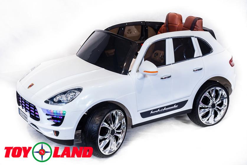 Электромобиль Porsche Macan белого цветаЭлектромобили, детские машины на аккумуляторе<br>Электромобиль Porsche Macan белого цвета<br>