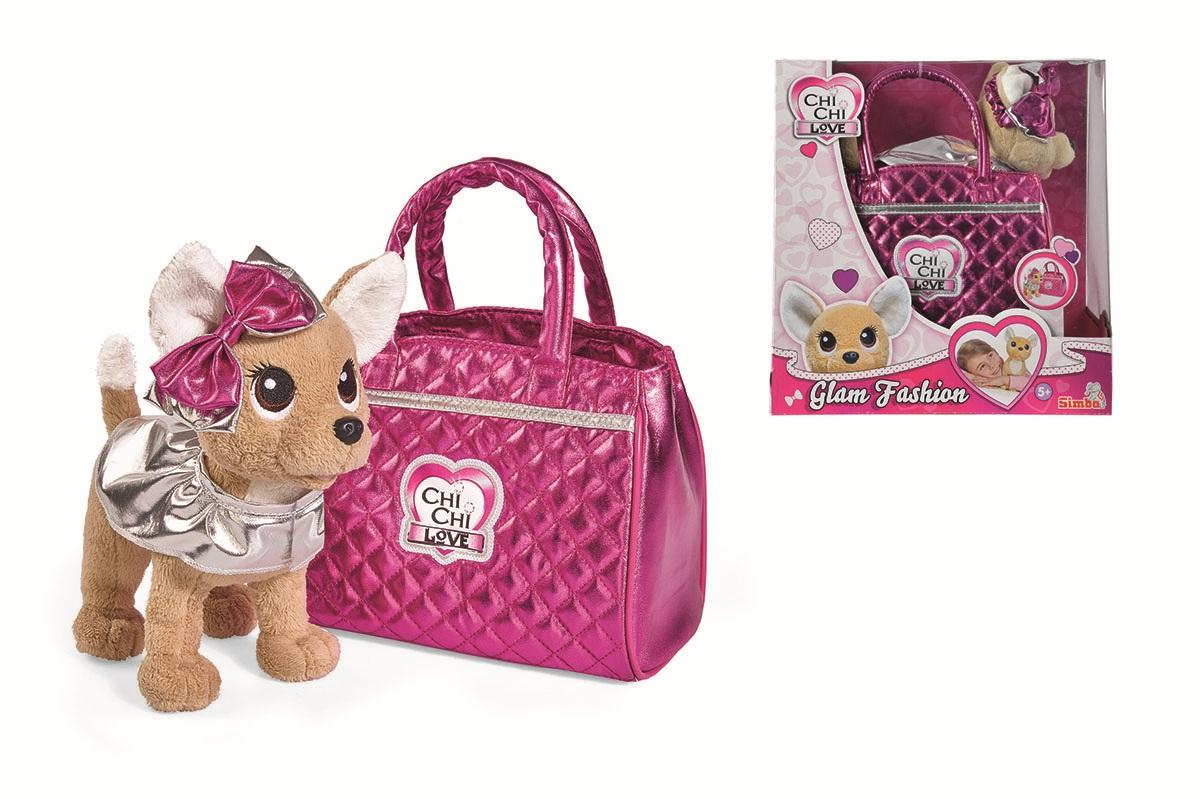 Купить Плюшевая собачка Chi-Chi love - Гламур с розовой сумочкой и бантом, 20 см, Simba