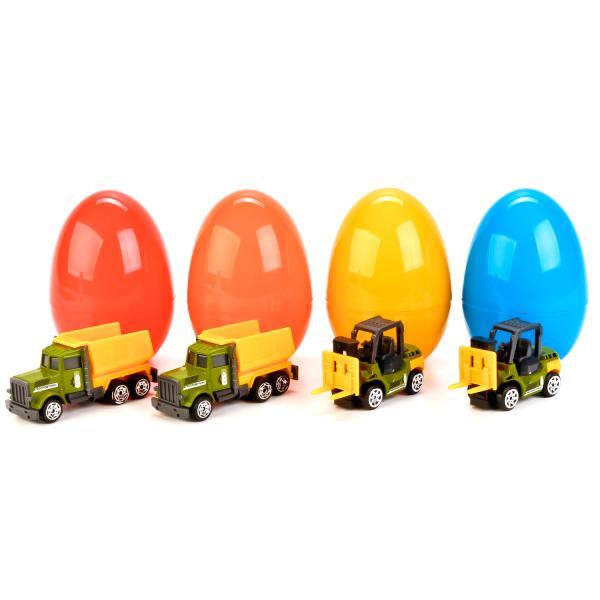 Машина металлическая Сельхозтехника, 7,5 см., в пластиковом яйце, несколько цветов и моделейИгрушечные тракторы<br>Машина металлическая Сельхозтехника, 7,5 см., в пластиковом яйце, несколько цветов и моделей<br>