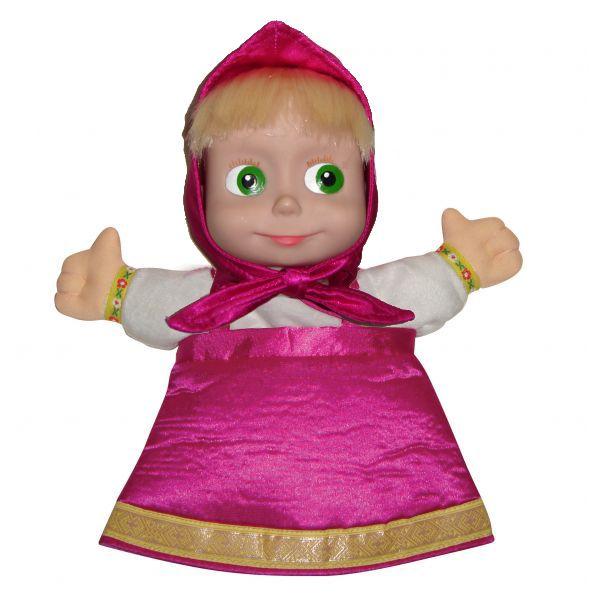 Мульти-Пульти Мягкая игрушка кукла Маша на руку по мотивам мультфильма «Маша и Медведь», 27 см.