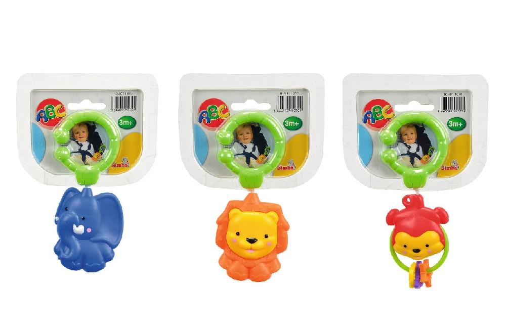 Погремушка-подвеска ABC Животные, 8 смДетские погремушки и подвесные игрушки на кроватку<br>Погремушка-подвеска ABC Животные, 8 см<br>