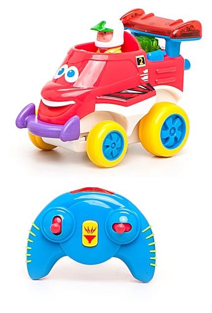 Развивающая игрушка «Забавный автомобильчик» на радиоуправленииРазвивающие игрушки KIDDIELAND<br>Развивающая игрушка «Забавный автомобильчик» на радиоуправлении<br>