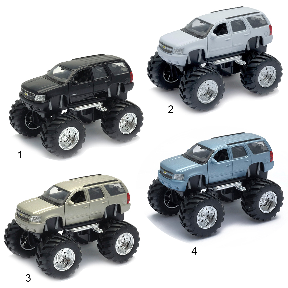 Модель машины Chevrolet Tahoe Big Wheel, 1:34-39Chevrolet<br>Модель машины Chevrolet Tahoe Big Wheel, 1:34-39<br>