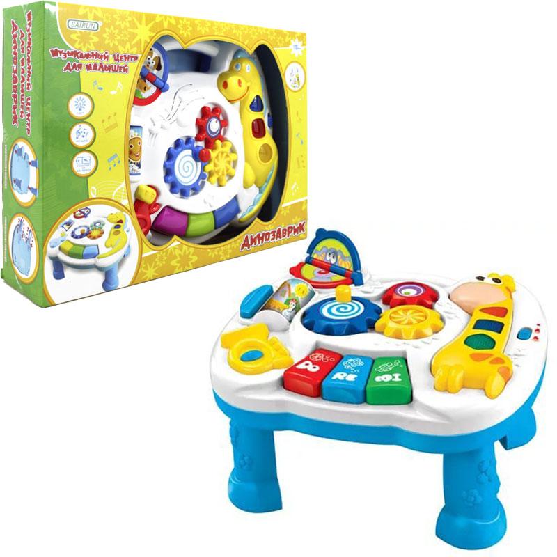 Музыкальный центр - Динозаврик, свет и звукМобили и музыкальные карусели на кроватку, игрушки для сна<br>Музыкальный центр - Динозаврик, свет и звук<br>