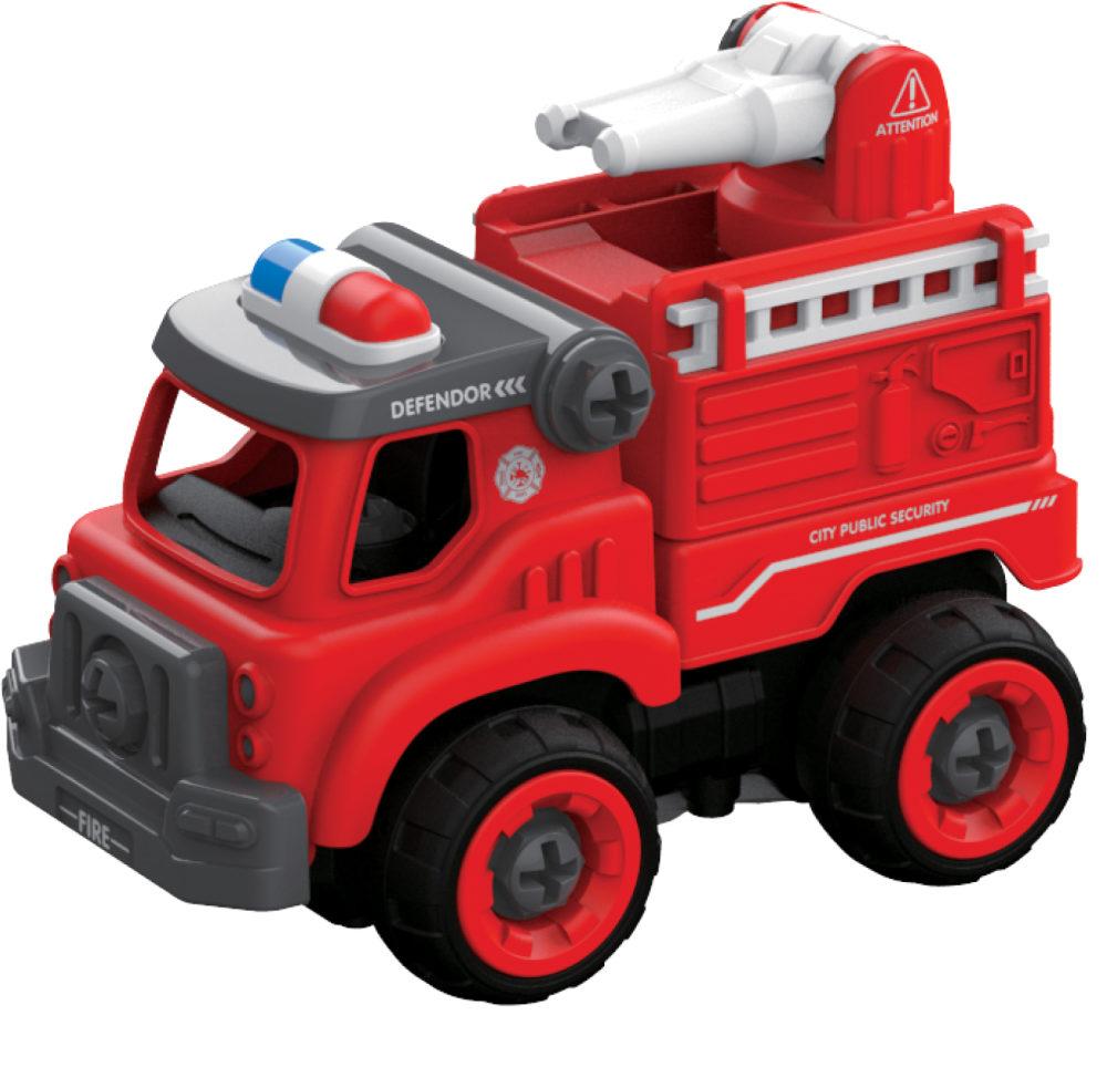 картинка Пожарный грузовик из серии Экстренные службы на радиоуправлении, 18 см, 2,4ГГц, разборный, в комплекте шуруповерт от магазина Bebikam.ru