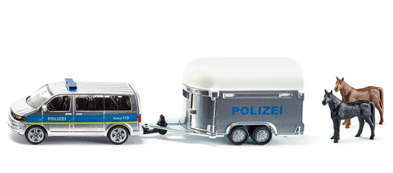 Полицейская машина с прицепом для лошадейПолицейские машины<br>Полицейская машина с прицепом для лошадей<br>