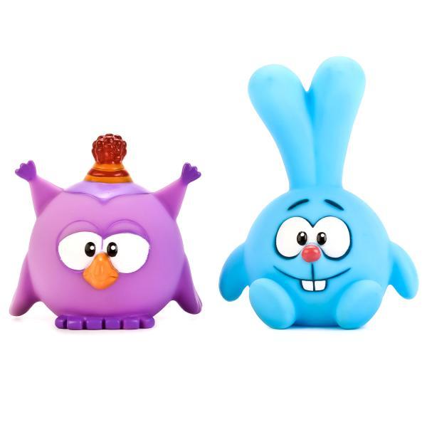 Набор из 2 игрушек для ванной из серии Смешарики – Крош и Совунья в сеткеРезиновые игрушки<br>Набор из 2 игрушек для ванной из серии Смешарики – Крош и Совунья в сетке<br>