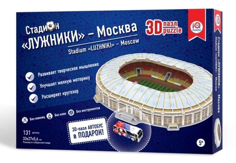 Купить Сборный 3D пазл из пенокартона – стадион Москва Лужники, IQ 3D Puzzle