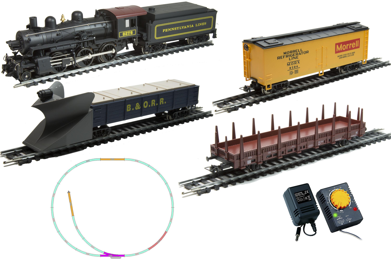 Стартовый набор из серии Mehano Hobby – паровоз Mogul с 3-мя вагонамиДетская железная дорога<br>Стартовый набор из серии Mehano Hobby – паровоз Mogul с 3-мя вагонами<br>