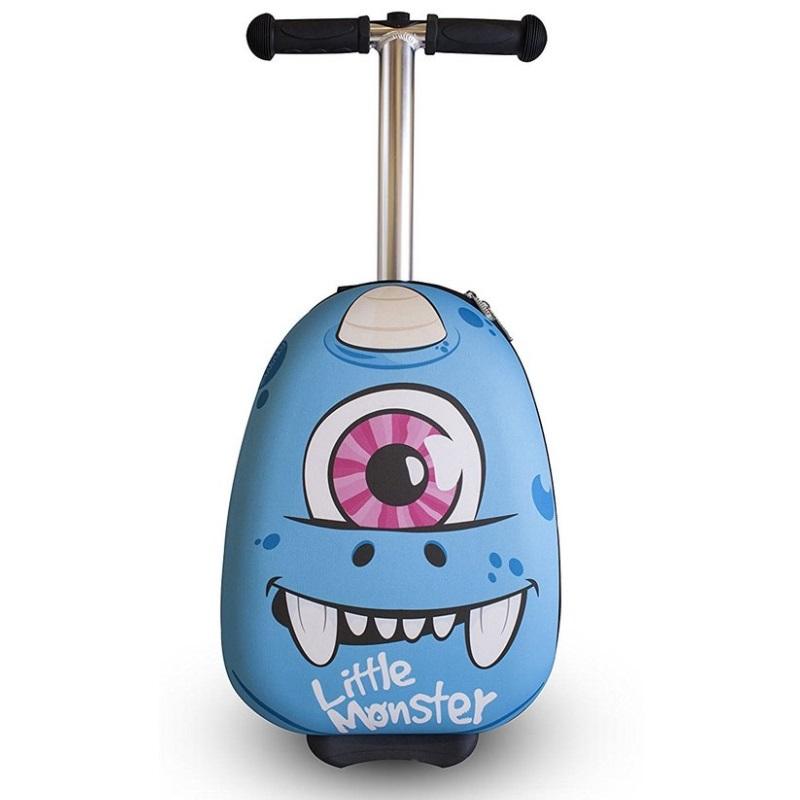 Самокат-чемодан Monster Blue, 38 см