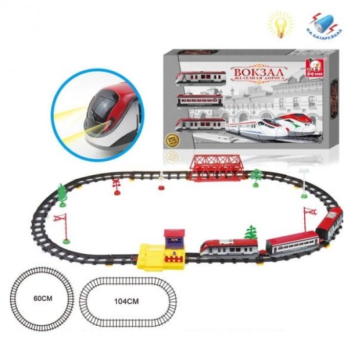 Купить Железная дорога длина полотна 264 см, свет, аксессуары, S+S TOYS