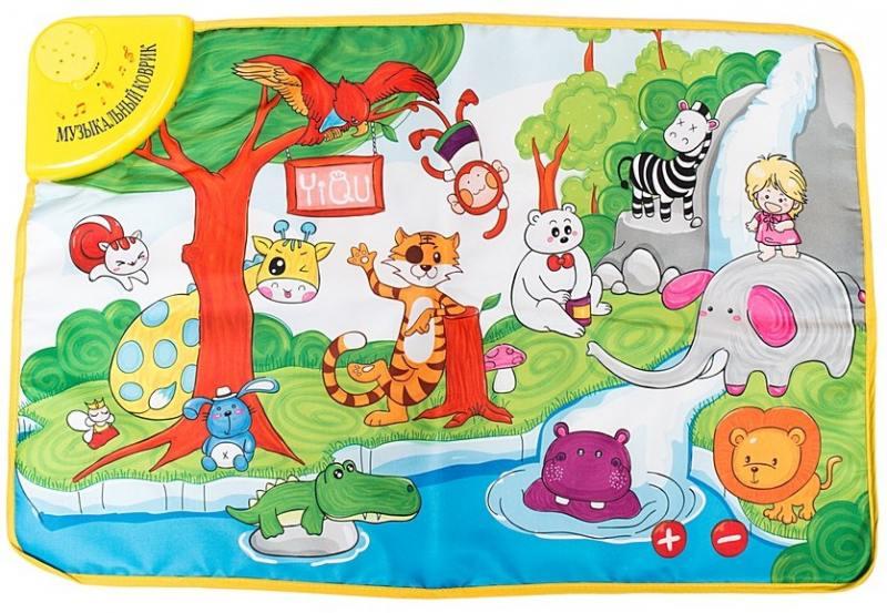 Развивающий коврик Веселый зоопарк, со светом и звукомДетские развивающие коврики для новорожденных<br>Развивающий коврик Веселый зоопарк, со светом и звуком<br>