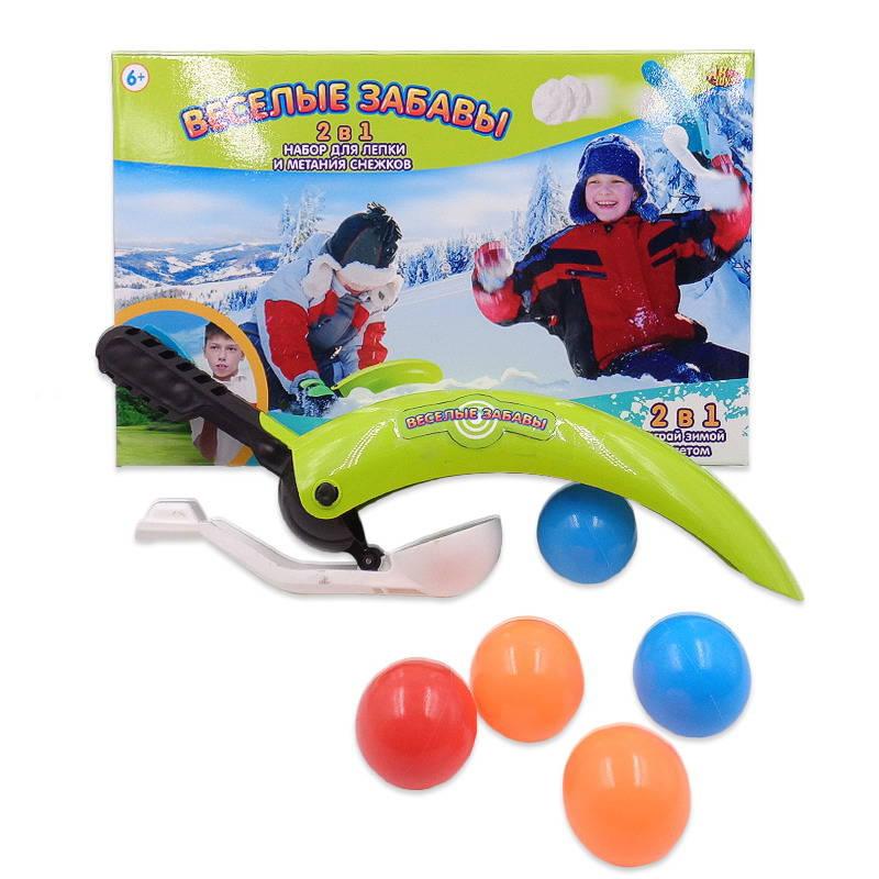 Набор для лепки и метания снежков - Веселые забавы, 2 в 1Разное для зимних забав<br>Набор для лепки и метания снежков - Веселые забавы, 2 в 1<br>