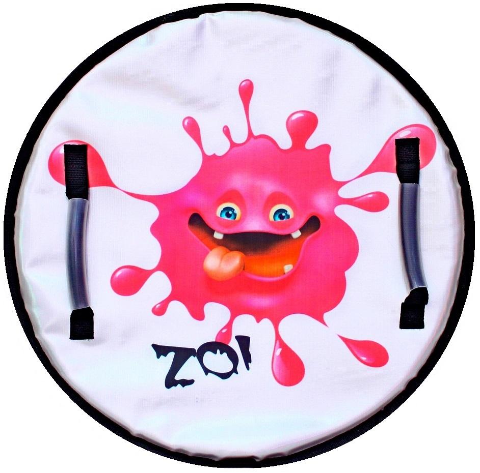 Ледянка Монстрик ZOI с пластиковым дном, цвет розовый, 50см.Ватрушки и ледянки<br>Ледянка Монстрик ZOI с пластиковым дном, цвет розовый, 50см.<br>