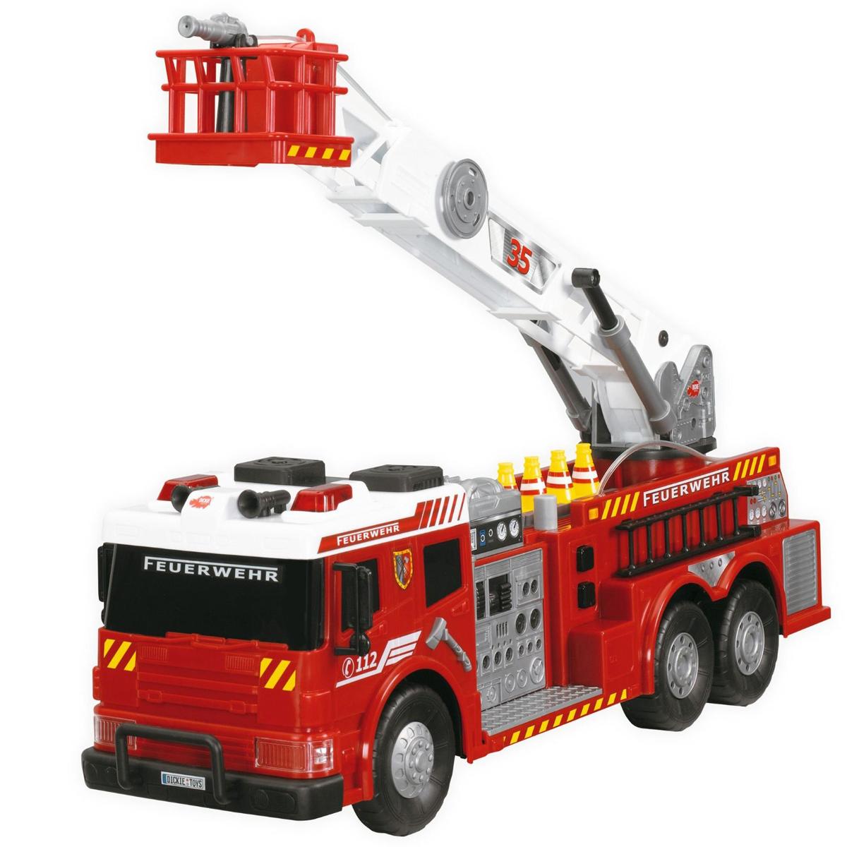 Dickie пожарная машина на пульте, свет + звукПожарная техника, машины<br>Dickie пожарная машина на пульте, свет + звук<br>