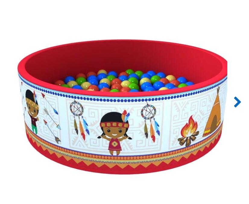 Купить Romana Сухой бассейн Индейцы ДМФ-МК-02.52.02 + 300 шаров