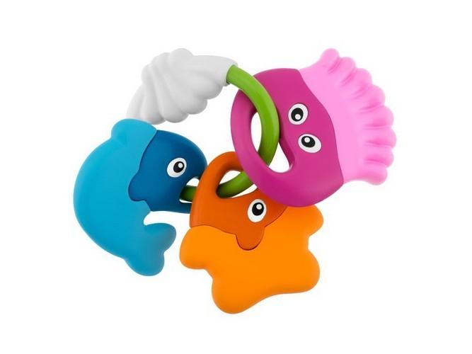 Погремушка с прорезывателем «Морские животные»Детские погремушки и подвесные игрушки на кроватку<br>Погремушка с прорезывателем «Морские животные»<br>
