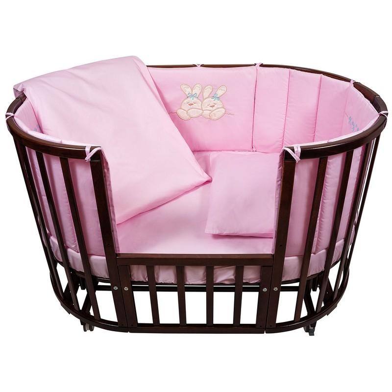 Комплект в кроватку Nuovita Leprotti, 6 предметов rosa / розовый