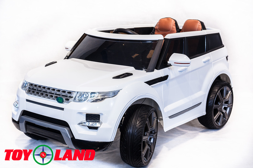Электромобиль Range Rover белыйЭлектромобили, детские машины на аккумуляторе<br>Электромобиль Range Rover белый<br>