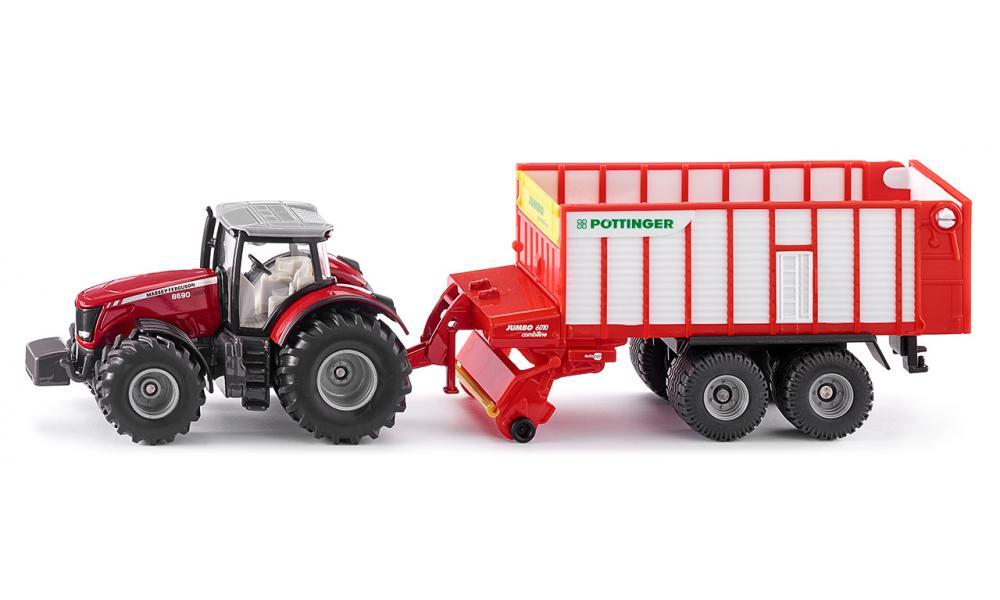Трактор Massey Ferguson с кузовом Poettinger JumboИгрушечные тракторы<br>Трактор Massey Ferguson с кузовом Poettinger Jumbo<br>