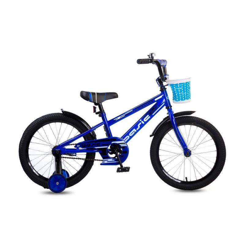 Купить Детский велосипед Navigator - Basic, колеса 18 , стальная рама и обода, цвет синий
