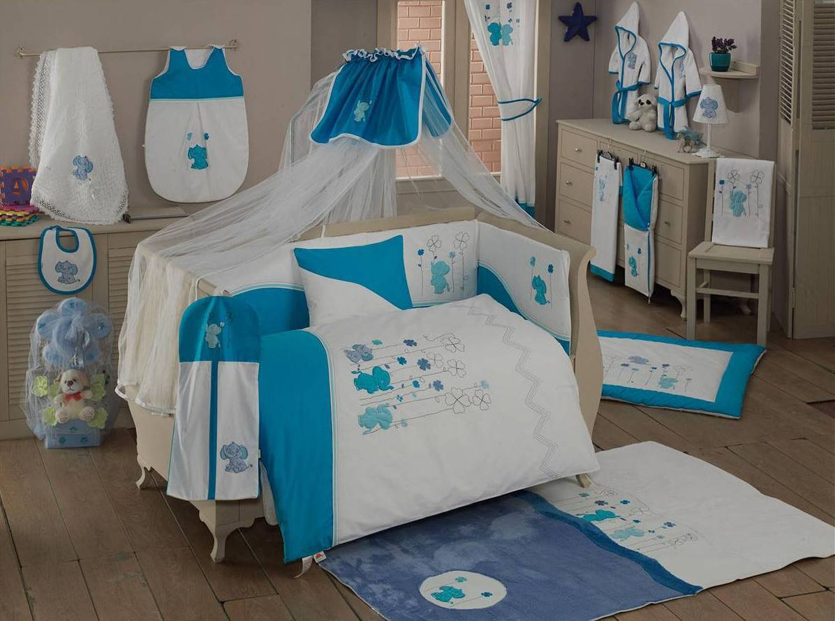 Балдахин серии Elephant 150 х 450 см, BlueДетское постельное белье<br>Балдахин серии Elephant 150 х 450 см, Blue<br>