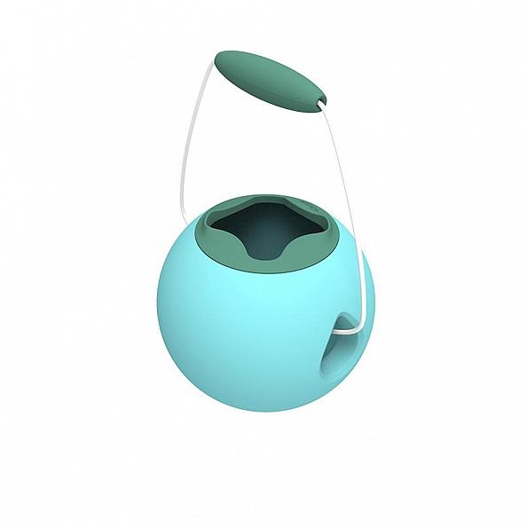 Купить Ведёрко для воды Quut Mini Ballo 0.5 литров, цвет: винтажный синий + зелёный минерал Vintage blue + mineral green