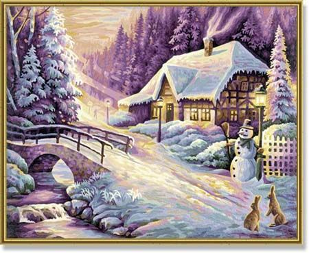 Зима, 40*50 смРаскраски по номерам Schipper<br><br>