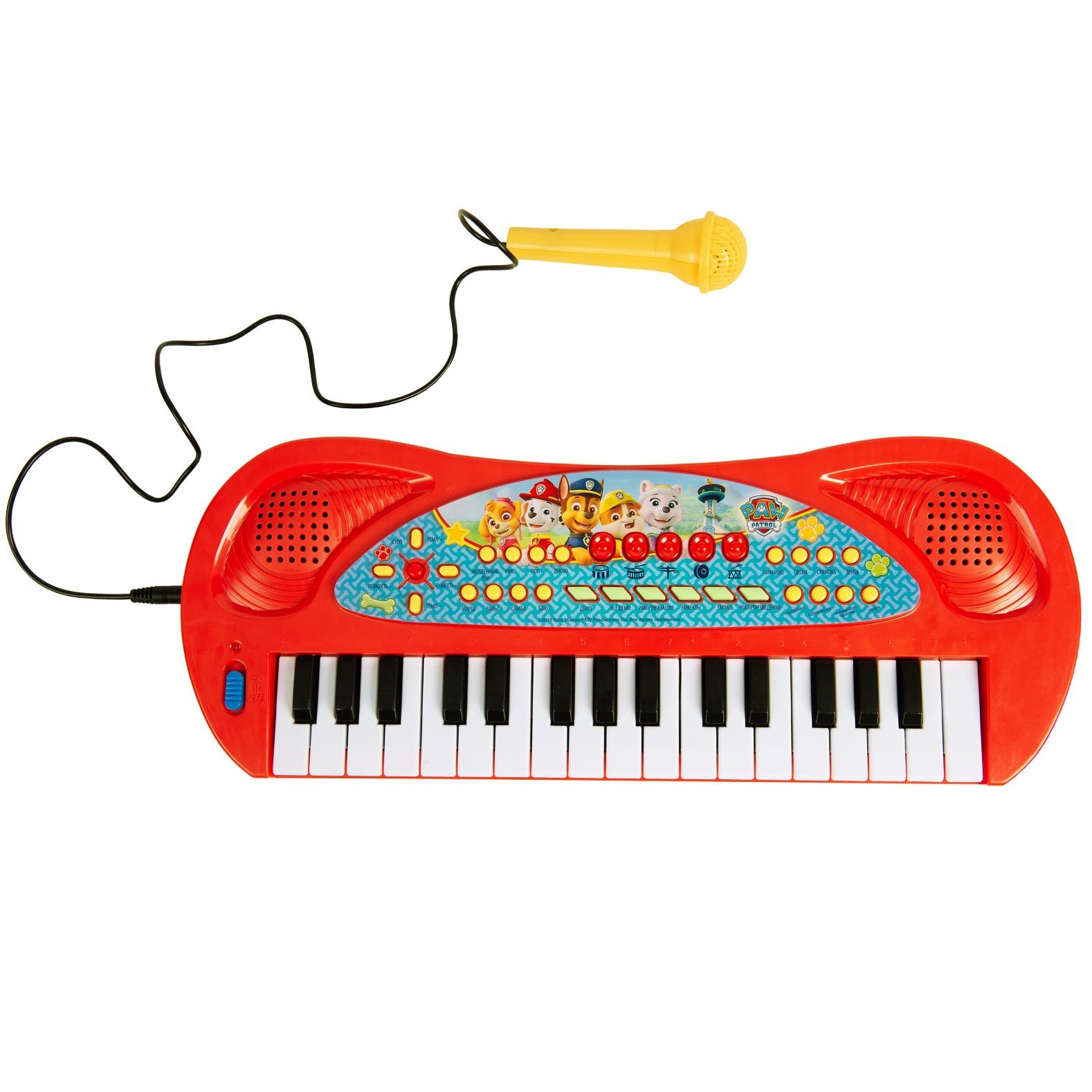 Купить Игрушечный синтезатор с микрофоном ™ Paw Patrol - Щенячий патруль, Росмэн