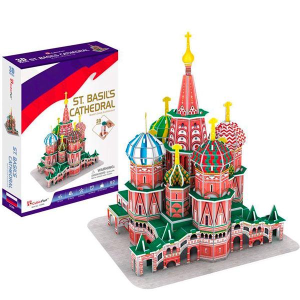 Купить 3D пазл - Собор Василия Блаженного, Россия, Cubic Fun