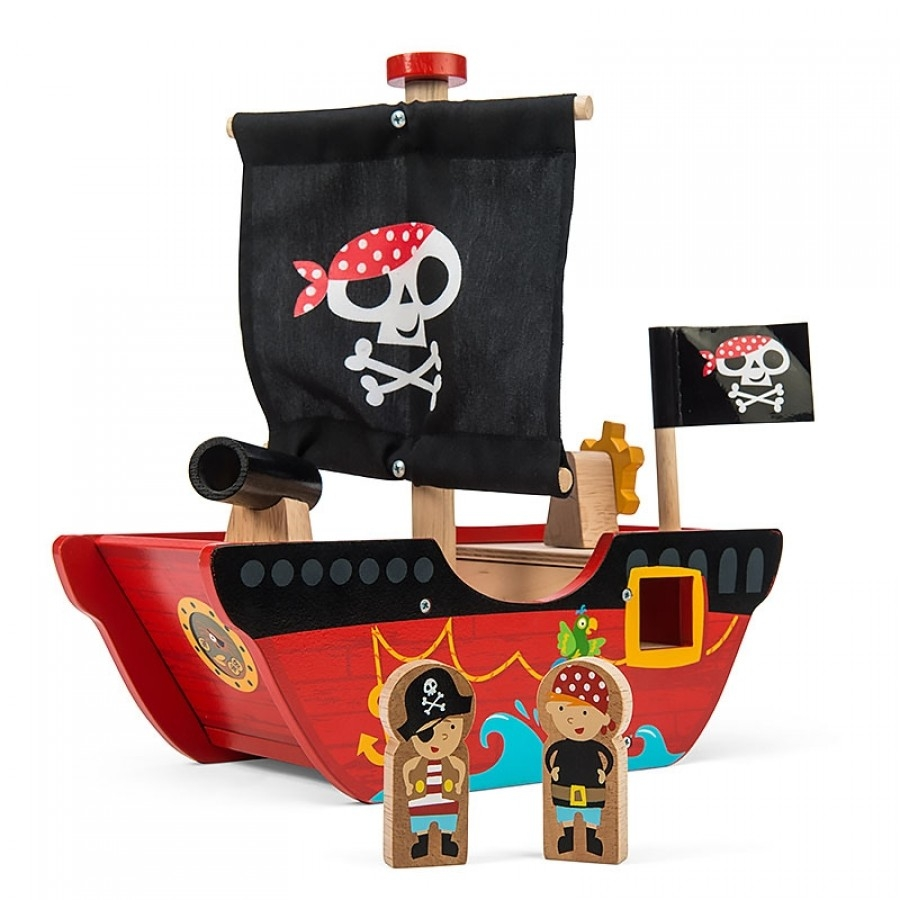 Игрушечный пиратский корабль – Смелый капитанЗамки, рыцари, крепости, пираты<br>Игрушечный пиратский корабль – Смелый капитан<br>