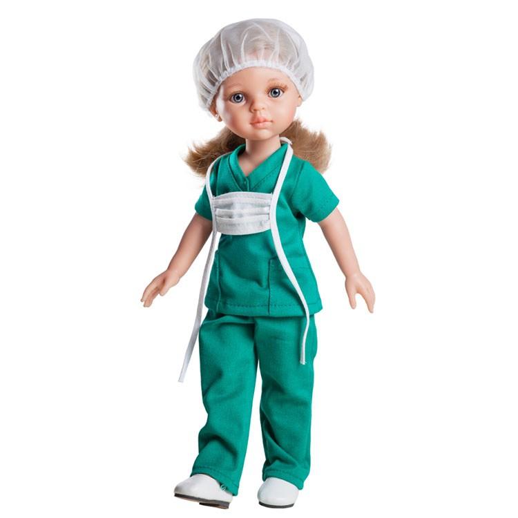 Кукла Карла медсестра, 32 см.Испанские куклы Paola Reina (Паола Рейна)<br>Кукла Карла медсестра, 32 см.<br>