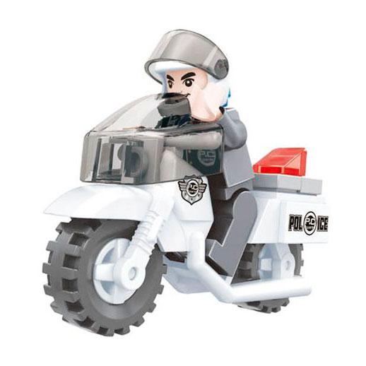 Конструктор Патруль. Полицейский на мотоцикле, 26 деталейКонструкторы других производителей<br>Конструктор Патруль. Полицейский на мотоцикле, 26 деталей<br>