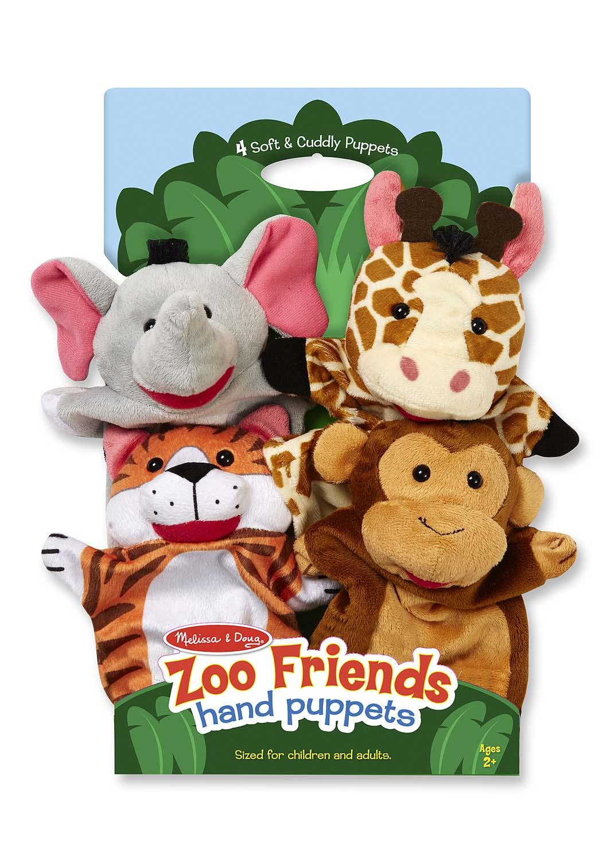 Плюшевые куклы на руку «Зоопарк»Детский кукольный театр <br>Плюшевые куклы на руку «Зоопарк»<br>