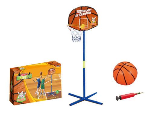 Баскетбольная стойка с мячом фото