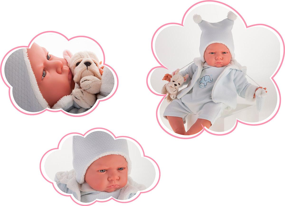 Кукла Реборн младенец Марисоль в голубом, 52 см. фото