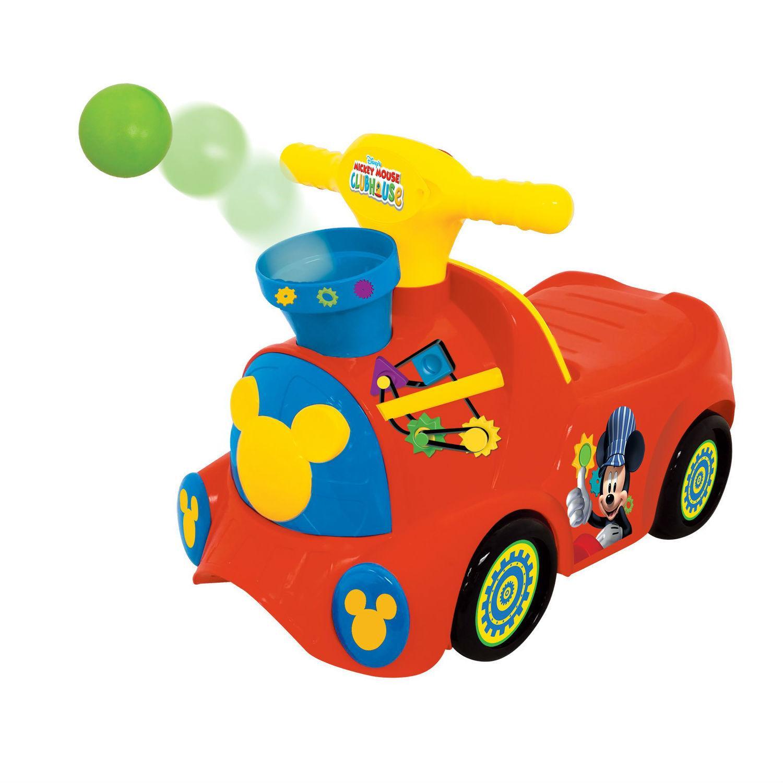 Каталка-пушкар – Паровозик Микки Маус, свет и звукМашинки-каталки для детей<br>Каталка-пушкар – Паровозик Микки Маус, свет и звук<br>