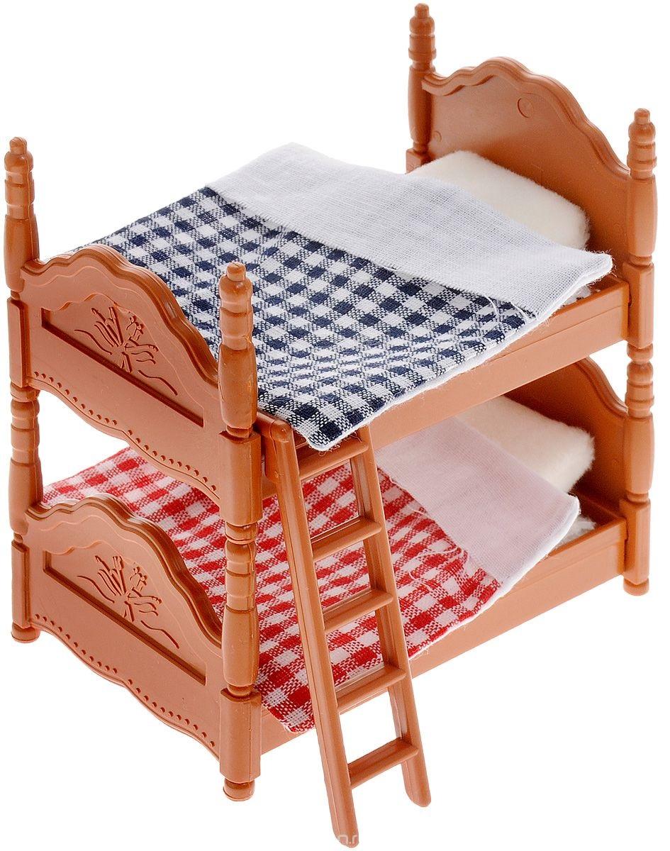Набор мебели для спальни - Счастливые друзья, с аксессуарамиДетские кроватки для кукол<br>Набор мебели для спальни - Счастливые друзья, с аксессуарами<br>