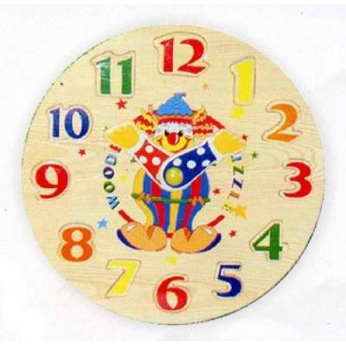 Купить Деревянный пазл в рамке Часы-цифры, Wooden Toys
