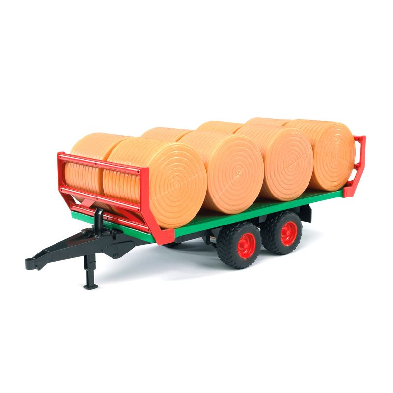Прицеп для перевозки рулонов сена с 8 рулонамиИгрушечные тракторы<br>Прицеп для перевозки рулонов сена с 8 рулонами<br>