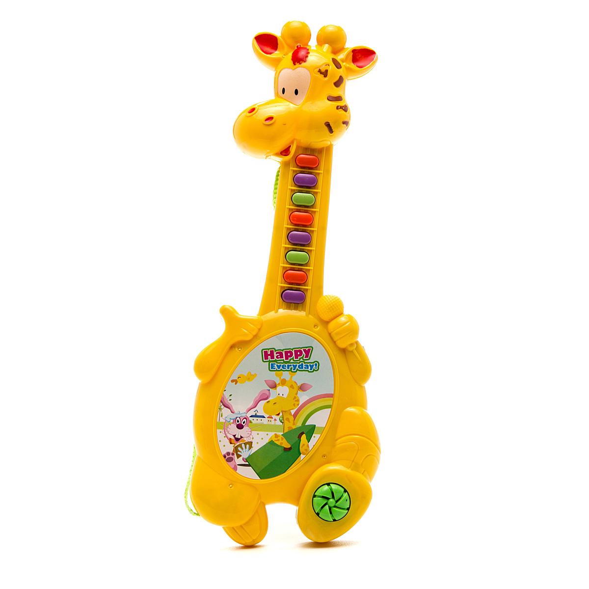 Игрушка музыкальная - Жираф, озвученнаяГитары<br>Игрушка музыкальная - Жираф, озвученная<br>