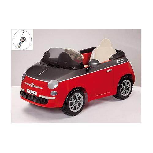 Электроприводная красная машина на радиоуправлении, FIAT 500Электромобили, детские машины на аккумуляторе<br><br>