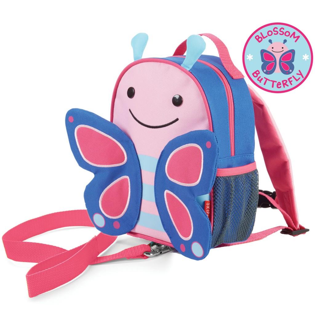 Рюкзак детский с поводком Бабочка фото