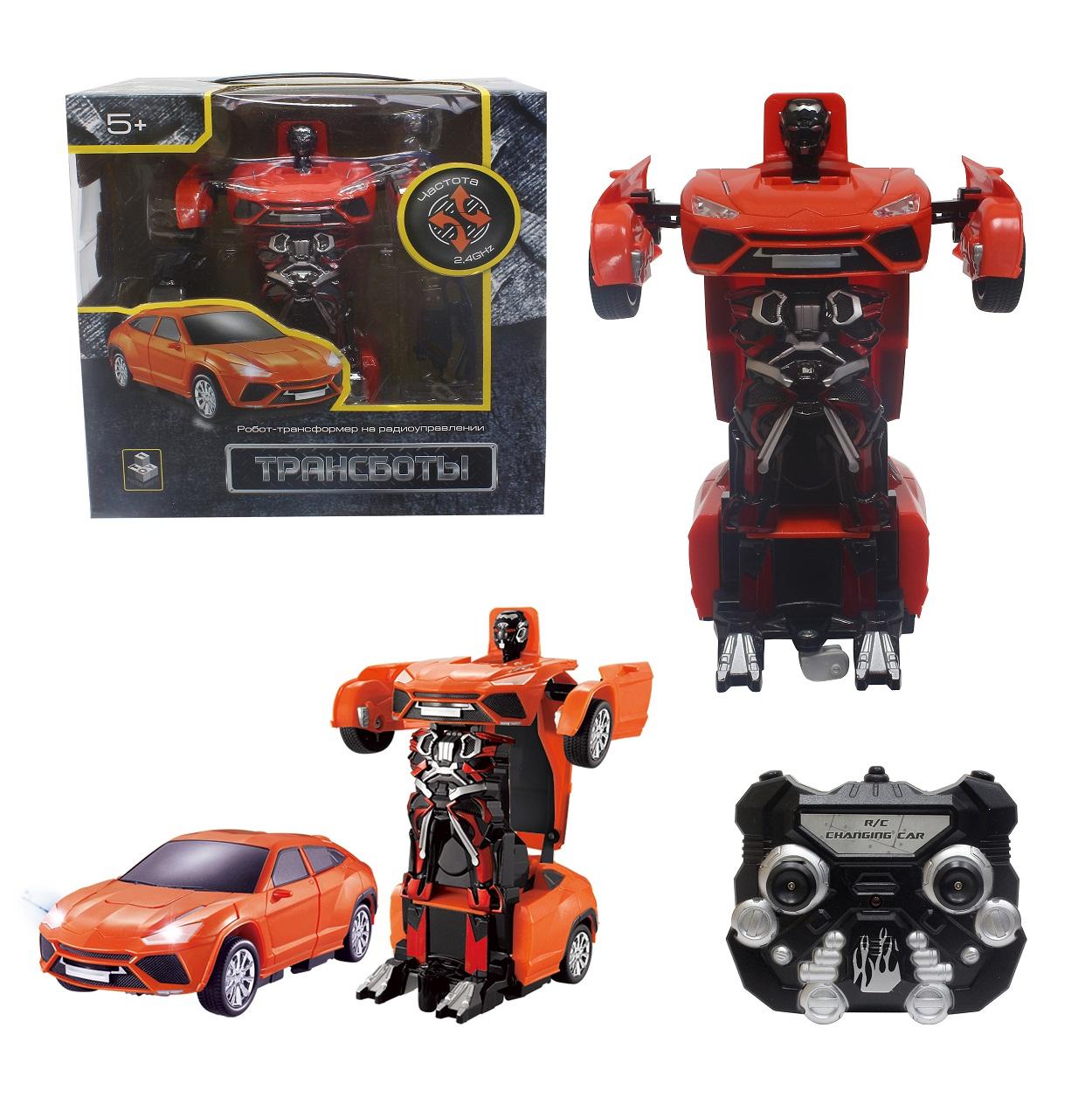 Робот на р/у 2,4GHz, трансформирующийся в легковую машину, красный