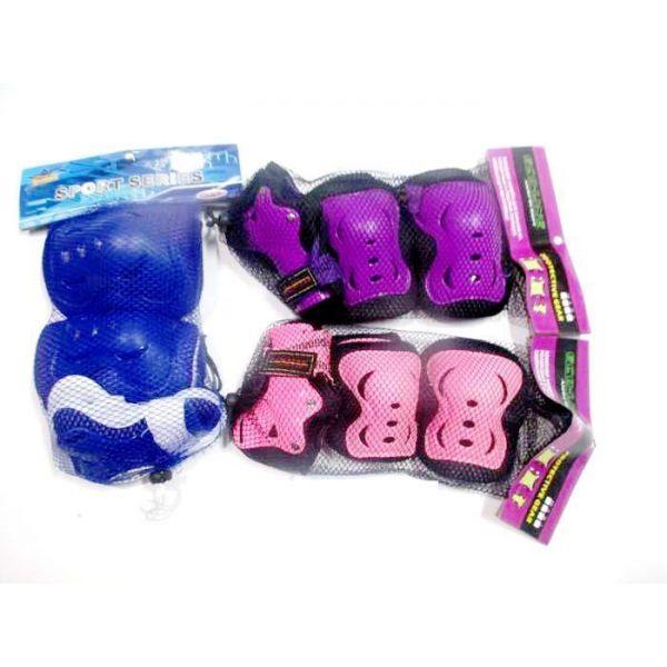 Комплект защиты для колен, локтей и запястий из серии Тачки, размер S, в сетчатой сумкеЗащита: шлемы и пр.<br>Комплект защиты для колен, локтей и запястий из серии Тачки, размер S, в сетчатой сумке<br>